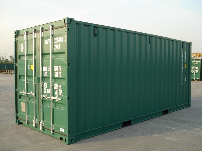 New Green Steel Container from Flintham Cabins