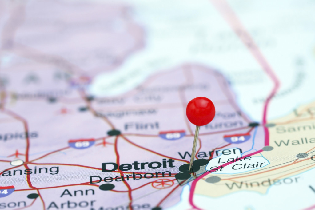 Detroit On Map - iStock_000057139984_Medium