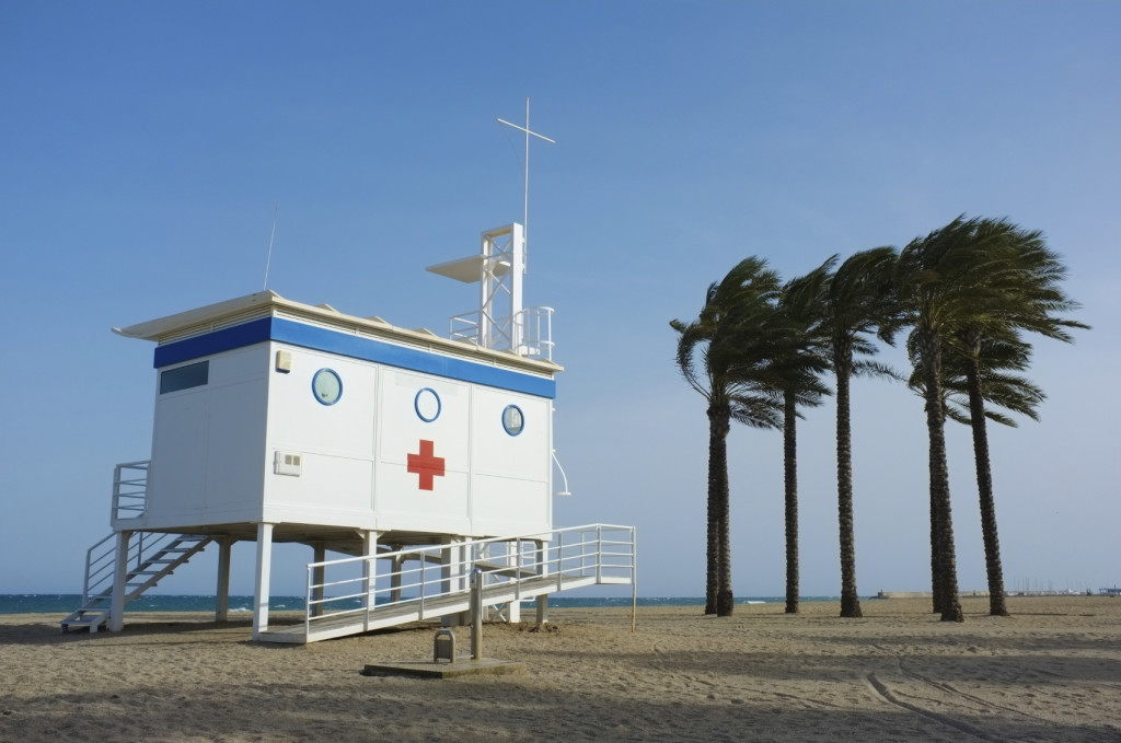 First aid hut
