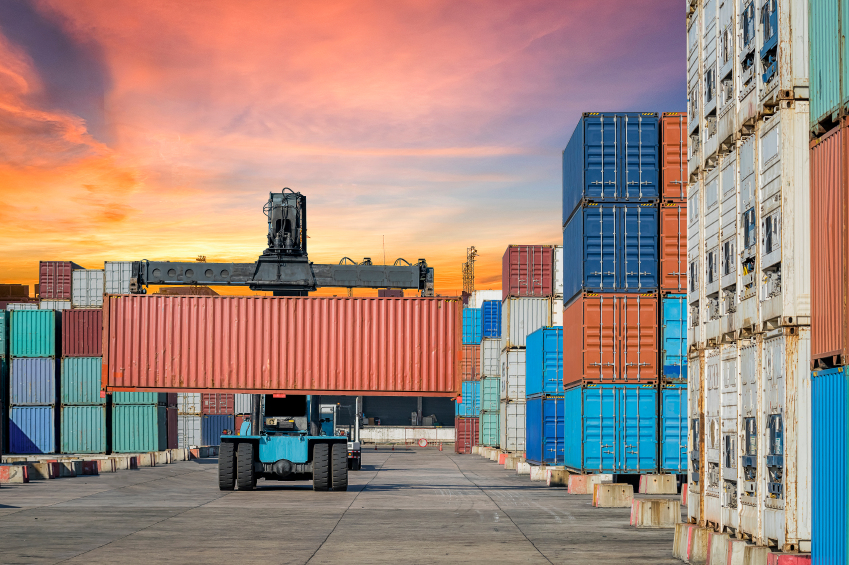 Container Cargo working in Logistic Import Export area