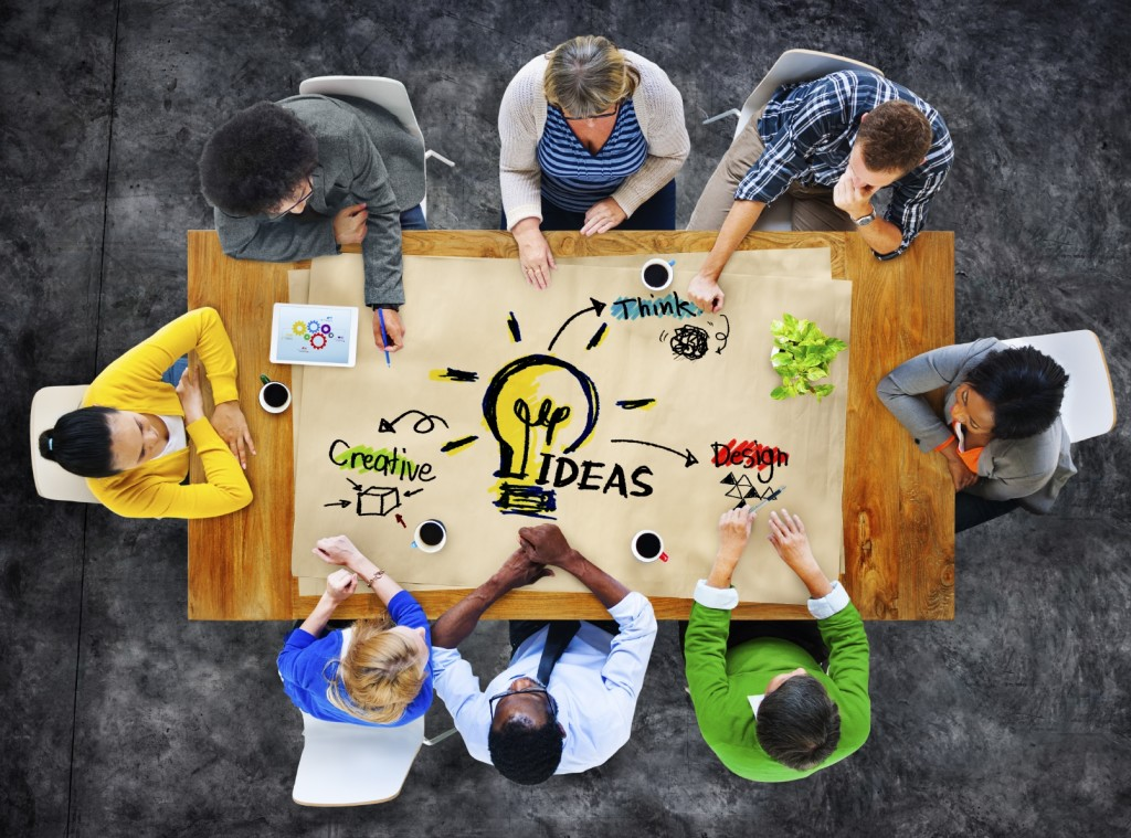 Multi-Ethnic Group of People Planning Ideas