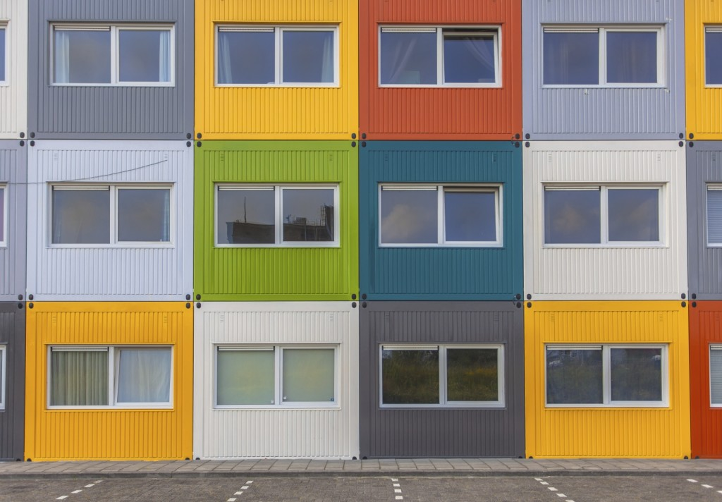House Block Apartments in Varied Colors in Amsterdam, The Netherlands