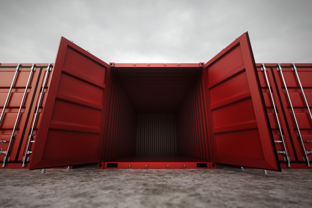 Steel storage container in London